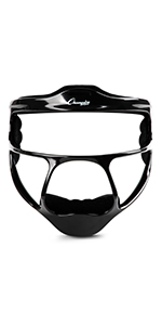 Champion Sports Magnesium Softball Face Mask, Black