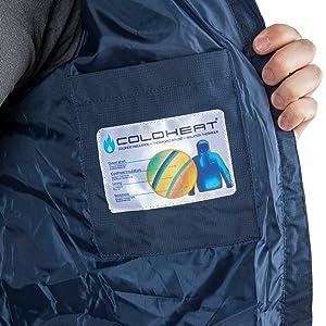 Trespass clip jacket, mens padded jacket, mens winter jacket, trespass, mens zip jacket, blue jacket