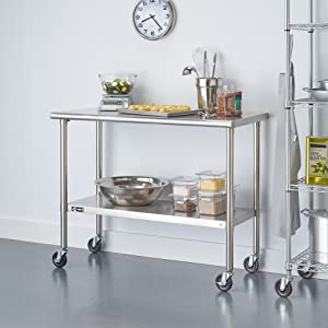 TRINITY Stainless Steel Table with Caster TLS-0201C