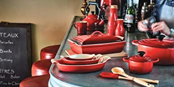 Le Creuset shown in Cerise