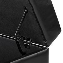 Rectangle Storage Ottoman Black
