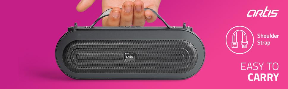 Artis BT09 Black Bluetooth Wireless Speaker Outdoor & Indoor