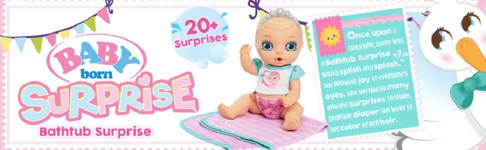 Baby Born Bath Tub Surprise; пеленка для новорожденного