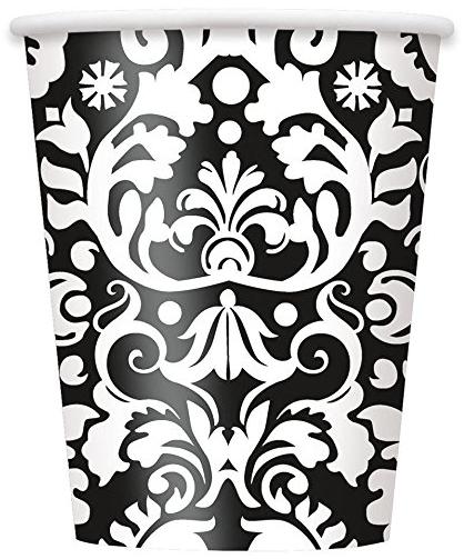 Square Black Paper Plates 14ct · White Plastic Silverware Set for 6 Guests (18pcs) · 9oz Black Damask Party Cups 8ct · Black Damask Plastic Tablecloth ...  sc 1 st  Amazon.com & Amazon.com: Black Damask Dinner Plates 8ct: Toys \u0026 Games