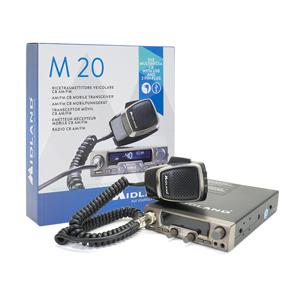 Midland PNI Pilka CB de Radio M20 + CB de Antena lc59, 72 cm de Largo, con 78 mm Soporte Magnético y 4 m de Cable Incluye