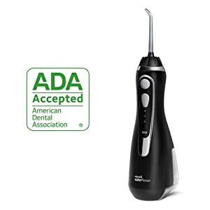 WP-562, WP562, black, cordless water flosser, waterpik, oral irrigator, air floss, airfloss
