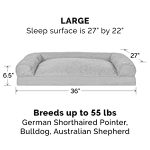 dog; cat; bed; sofa; couch; silver gray; large; big
