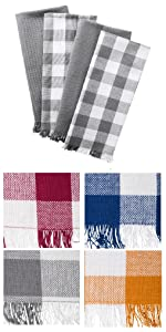 kitchen towels,dish towels,cooking towels;dish towel set;checked dish towels;plaid kitchen towels