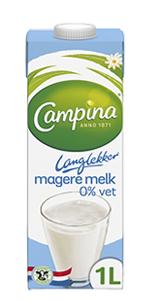 Campina Langlekker magere melk 1L