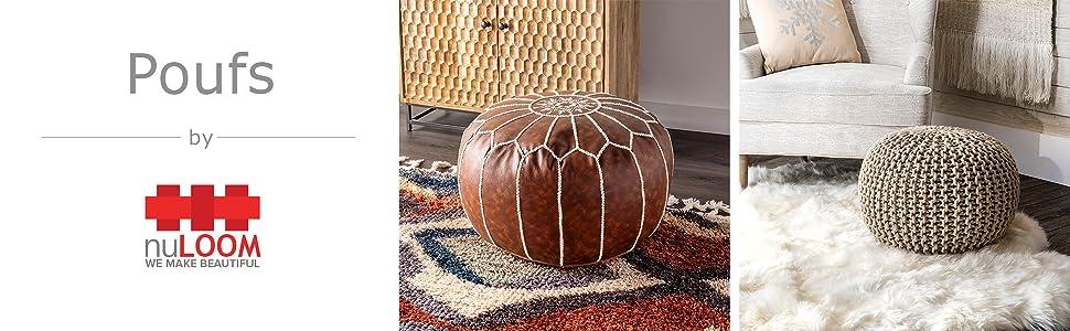 nuLOOM,pouf, decorate, decorative