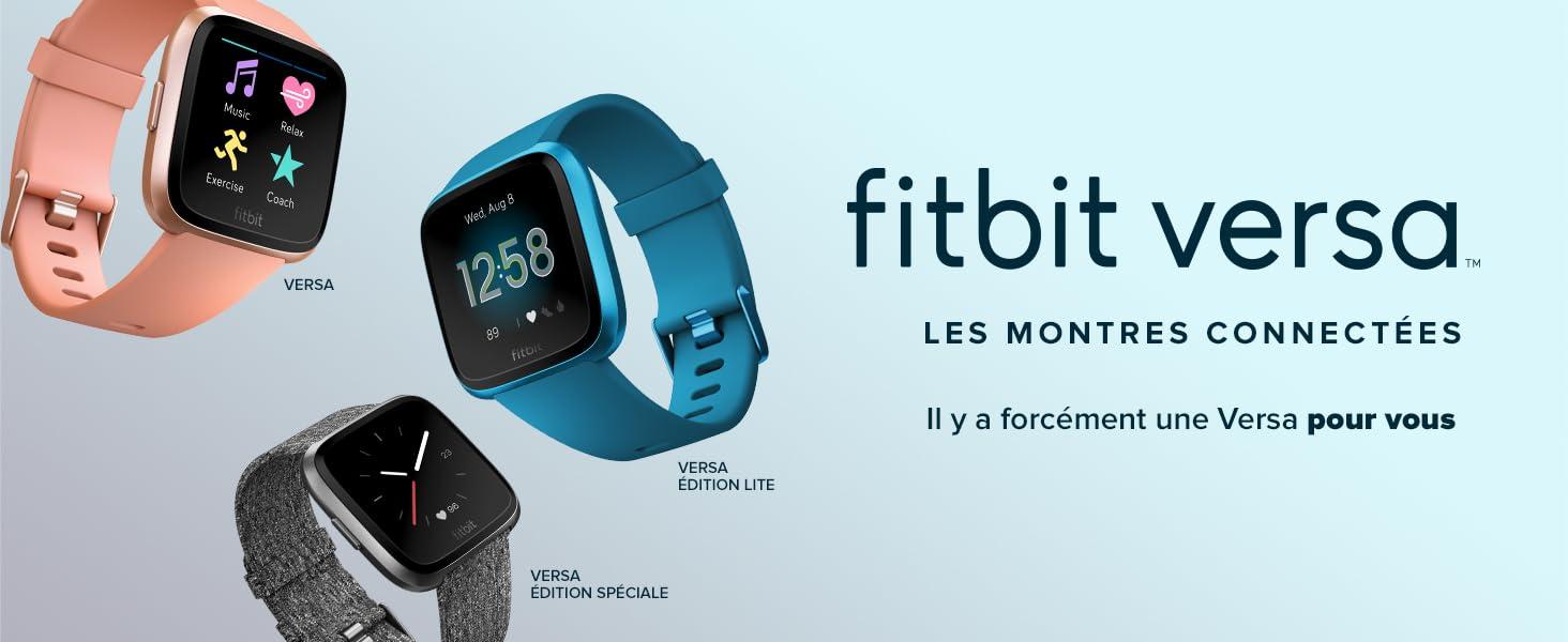 Bien Montres 4 Fréquence De CardiaqueNoir Connectées Et Fitbit ÊtrePlus FormeSport Versa Jours D'autonomieÉtancheSuivi hxsCrdBotQ