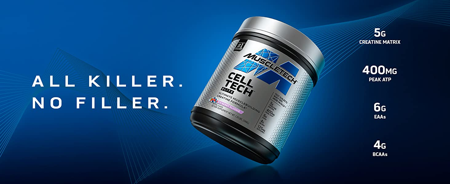 Amazon.com: Creatine Powder   MuscleTech Cell-Tech Elite Creatine Powder   Post Workout Recovery Drink   Muscle Builder for Men & Women   Creatine HCl Supplement   ICY Berry Slushie (20 Servings): Health & Personal Care