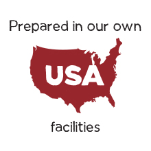 Prepared in our own USA facilities