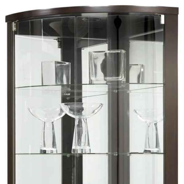 Amazon.com: Pulaski Cannes Corner Curio Cabinet, Sable: Kitchen ...