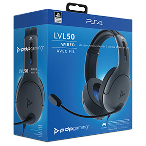 PDP - Auricular Stereo Gaming LVL50 Con Cable, Gris (PS4): Amazon.es: Videojuegos