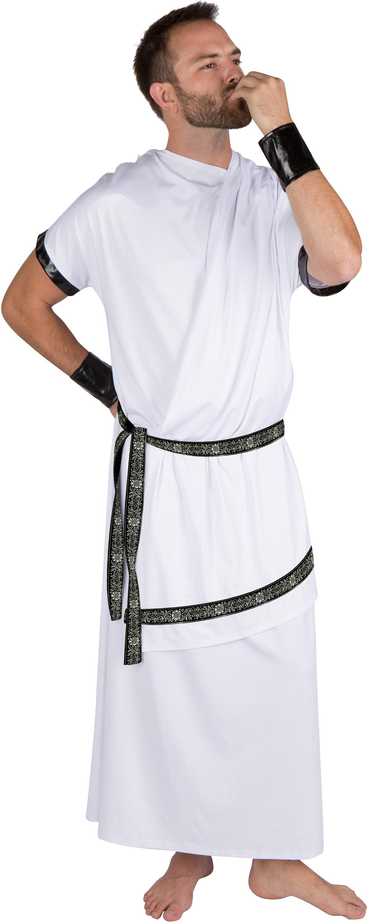 Amazon.com: Adulto disfraz de toga griego para hombre por ...