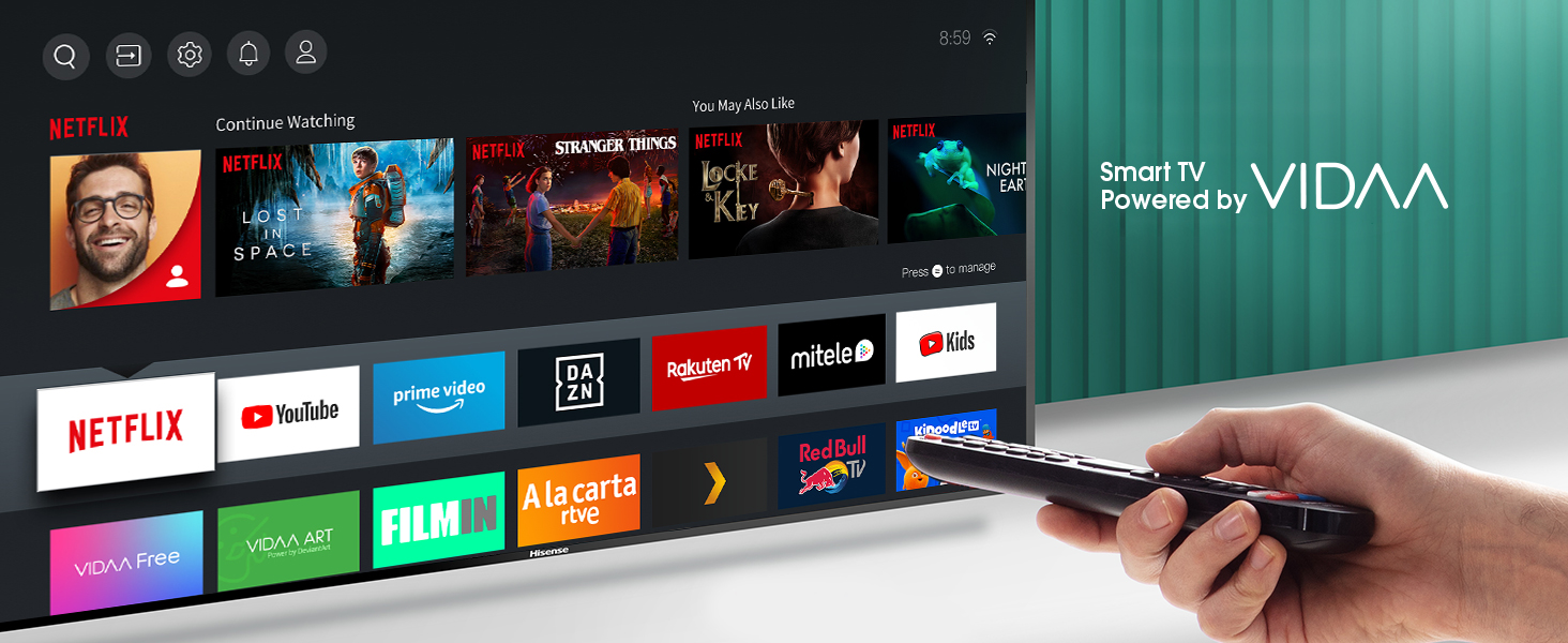 Hisense UHD TV 2020 50AE7400F - Smart TV 50