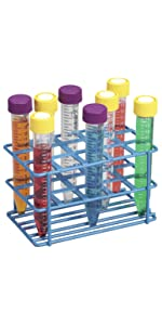 Epoxy Coated Wire Rack Heathrow Scientific Universal Tube holder lab slotted 15mL 18mm