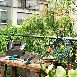 beendet 55 89 gardena city gardening wand schlauchbox 15 m schlauchaufroller mit 15 m. Black Bedroom Furniture Sets. Home Design Ideas