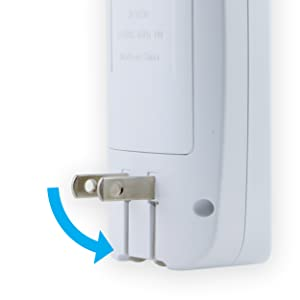 fold up plug flashlight power failure night light