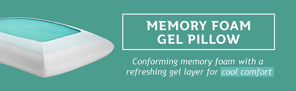 Memory foam gel pillow