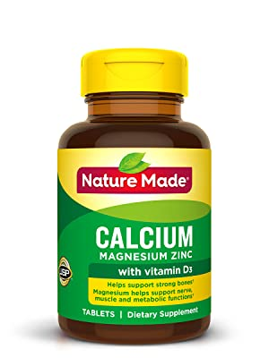Nature Made Calcium, Magnesium Zinc with Vitamin D3