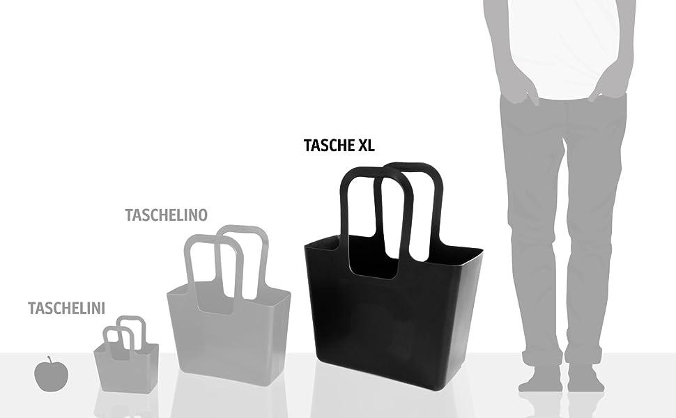 Koziol Taschelini Sac Sac à provisions Sac de transport en plastique Spa turqoise