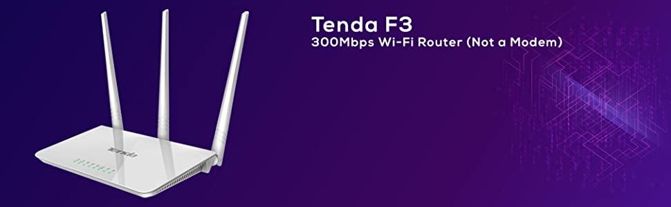 Tenda F3 300Mbps Wi-Fi Router (Not a Modem)