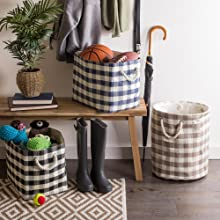 small white container room decorative tote kitchen table grey office bedroom gray laundry tall woven