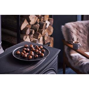 Le Creuset 20047320000460 Crepera, Inclu. rastrillo de madera, Redonda, Apto para todas las fuentes de calor, incl. inducción, Hierro Fundido ...