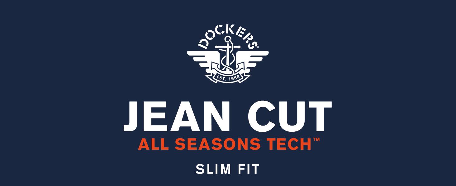 Jean Cut Khaki All Seasons Tech Slim Fit title banner