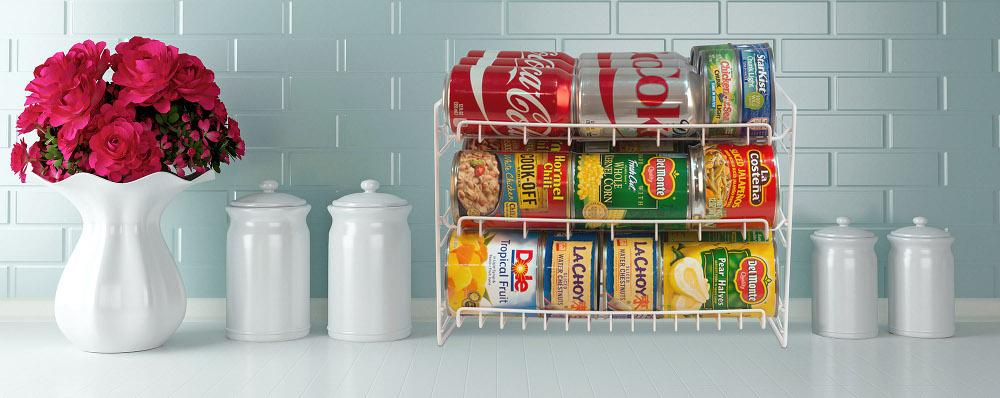 The Force Of Gravity Works In Your Kitchen With The Atlantic Can Rack. It  Automatically Feeds Cans To The Front So Theyu0027re Readily Accessible.
