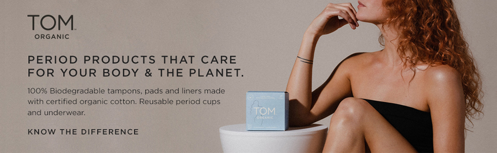 TOM Organic Australian period products