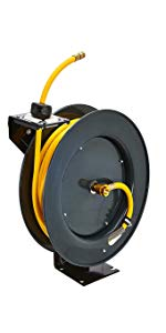 "hose reel air water oil fuel UREA DEF welding 1/4"" 3/8"" 1/2"" 1"" 25' 50' 65' 100' rubber polymer"
