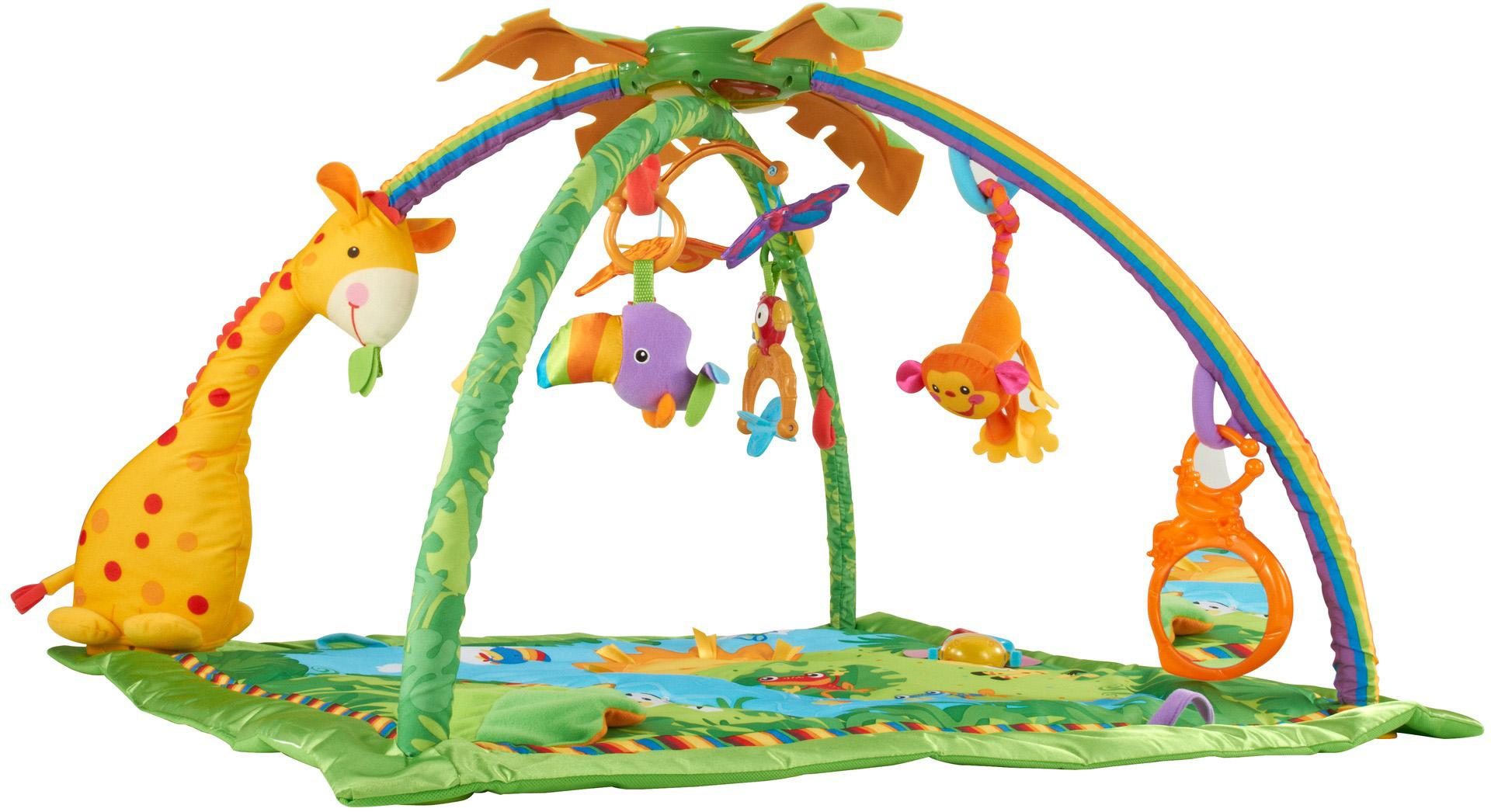 Amazon Com Fisher Price Rainforest Melodies And Lights Deluxe Gym Baby