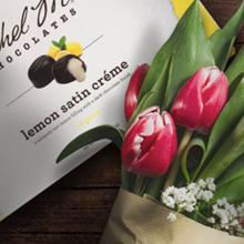 Share a box of chocolate crèmes as annivesary gifts.