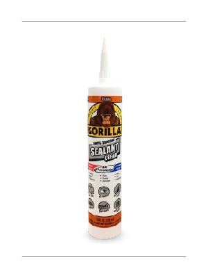 Gorilla Clear Silicone Sealant Cartridge