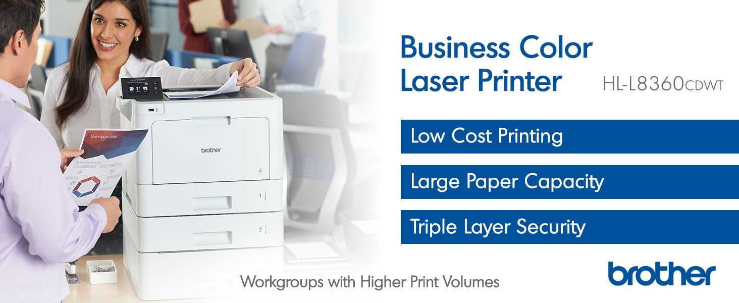HLL8360CDWT Business Color Laser All In One