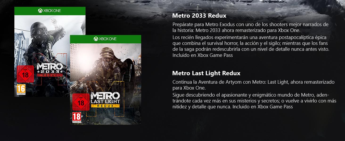 Microsoft Xbox One X - Consola 1 TB + Metro Exodus Collection: Microsoft: Amazon.es: Videojuegos
