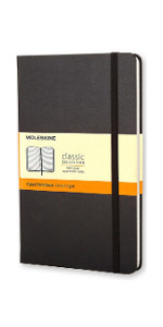 Moleskin,notebook,journal,notetaking,planner,lined page,blank page,diary,notebook with pen,pen