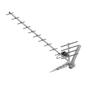 PNI PNI-19DB-DVB Pilka PNI Pilka de 8619 de DVB-T TV de Antena, Yagi 14 dB DVB-T2 al Aire Libre Gris