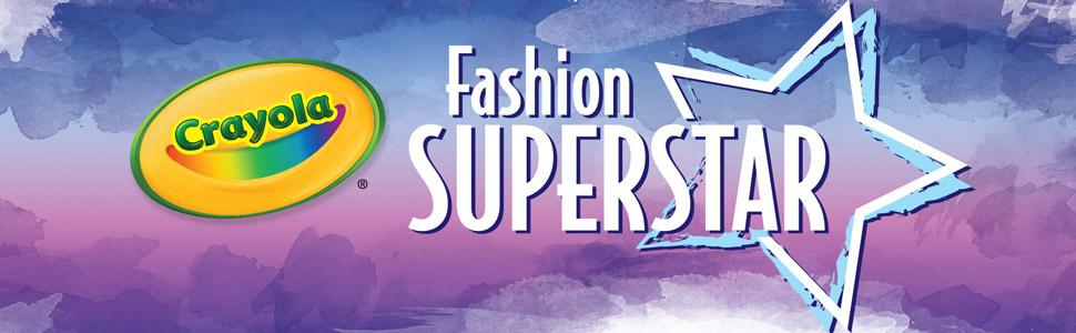Crayola Fashion Superstar Coloring Book And