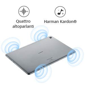 "Huawei M5 Lite 10 Mediapad Wi-Fi con Display da 10.1"", 1920 x 1200 in 16:10, Processore Octacore da 2.4 GHz, Android 8.0, RAM da 4 GB, Memoria Interna da 64 GB, Grigio"