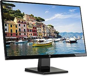 "HP 24w Ecran PC Full HD 23,8"" Noir Onyx Profil Gauche"