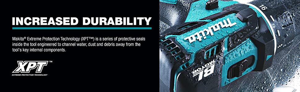 increased durabililty extreme protection technology XPT watet dust debris away interal components