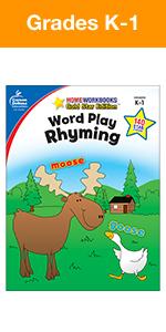 word play rhyming workbook for kindergarten