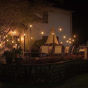 bağbozumu edison dize ışıkları, güverte için dize ışıkları, veranda dize ışıkları, bistro dize ışıkları