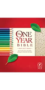 one year, daily devotional, softcover, reflections, notes, bible journaling, wide margins