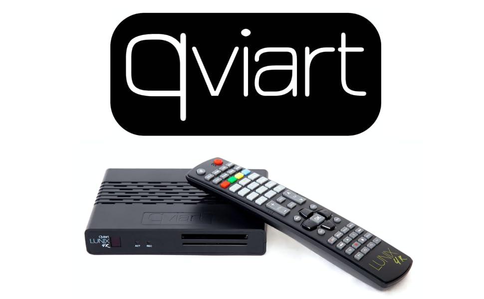 Qviart Lunix 4K UHD 2160p CI Receptor Satélite Linux E2 Combo DVB-S2X + DVB-T2/C Common Interface