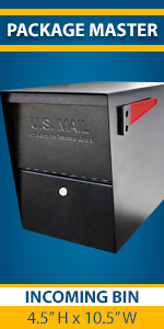 Package Master Locking Security USPS Approved Residential Mailbox for Outside with Lock and Key